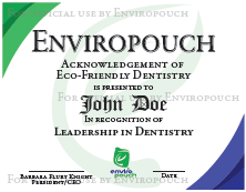 EnviroPouch Eco-Friendly Dentistry